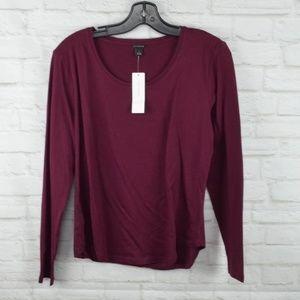 $10 Deal! Ann Taylor - Burgundy long sleeve T